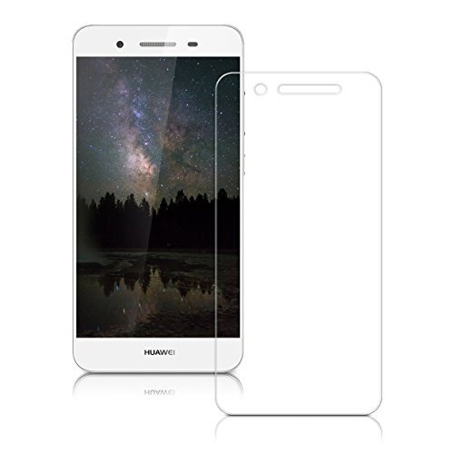 kwmobile Huawei GR3 / P8 Lite SMART Folie - Glas Handy Schutzfolie für Huawei GR3 / P8 Lite SMART - Full Screen Display Schutz - 4