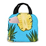Hlkjos48s Pineapple and Polka Dot Lunch Bag for Women Stylish Lunch Tote Bag Insulated Lunch Bag Lunch Box Insulated Lunch Container