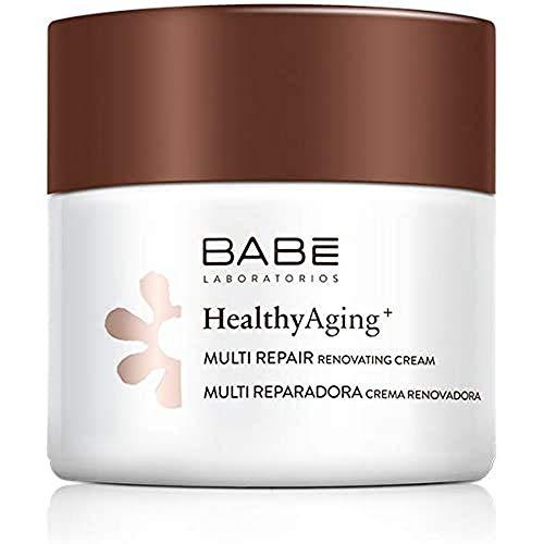 Laboratorios Babé - Multi Reparadora | HealthyAging+ | Crema Facial Hidratante De Noche Renovadora 50 ml | Nutritiva | Regeneradora | Aspecto Joven | Colágeno | Piel Sensible| Antiarrugas