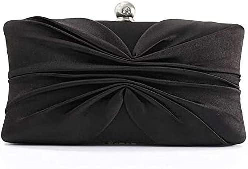 Women's Evening Handbags Women's Bow Pleated Evening Bag, Clutch, Silk Wedding Bridal Bag, Party Annual Meeting Business Bags Banquet Bag