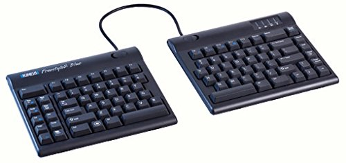 Kinesis Freestyle2 Blue Wireless Ergonomic Keyboard for PC (9' Separation)