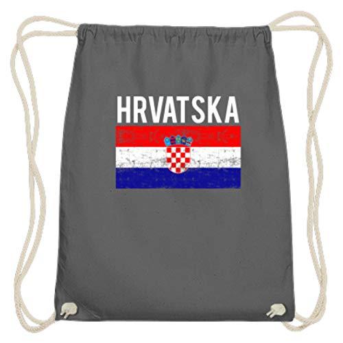 Kroatien - Fahne, Flagge, Kroatisch, Kroate, Kroatin, Zagreb, Hrvatska, Republik Kroatien - Baumwoll Gymsac