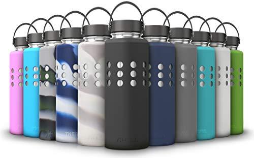 Thermi Protective Silicone Sleeve for Hydro Flask Water Bottles (18oz, 21oz, 32oz, 40oz, 64oz) (Nero Black, 40oz)