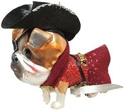 December Diamonds Blown Glass Ornament - Captain Hook Bulldog