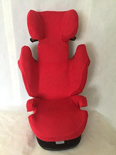 Sommerbezug Schonbezug für Cybex Solution M, M-Fix, S-Fix, M SL Frottee 100% Baumwolle rot