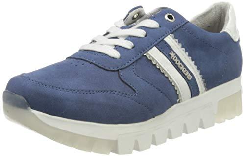 Dockers by Gerli Women's Low-Top Sneakers, Blue Navy 660, 9.5