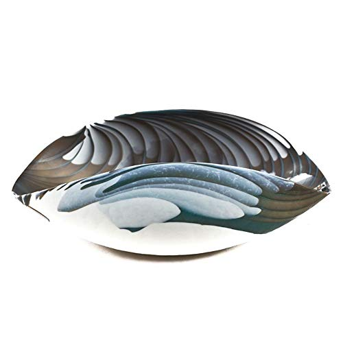 YourMurano Pluto Glasschale, handgefertigt, Türkis/Braun