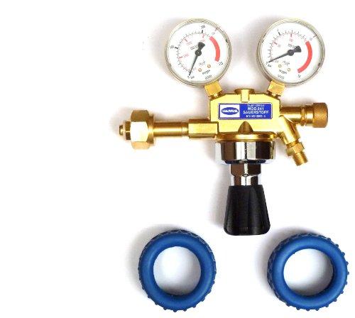 Druckminderer für Sauerstoff + 2 Manometerschutzkappen Original Harris Druckregler O2