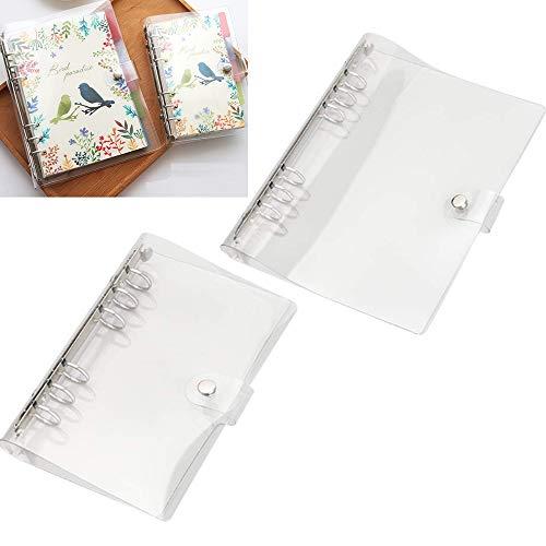 Nuluxi Notizbuch Ringbuchordner Mappen Ordner Ringbuchordner Transparent Nachfüllbar Ringbücher Klarsichthülle mit 6 Löchern A5/A6 Ideal für Notizbücher für DIY Reise-Notizbuch, Fotoalbum Scrapbooking
