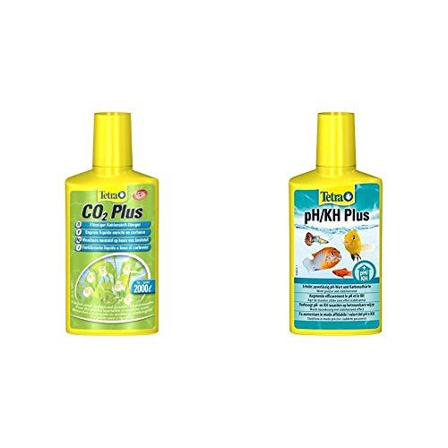 Tetra CO2 Plus flüssiger Kohlenstoff-Dünger für prächtige Aquarienpflanzen, 250 ml Flasche & PH/KH Plus, stabilisiert den pH-Wert und verhindert Säuresturz im Aquarium, 250 ml Flasche