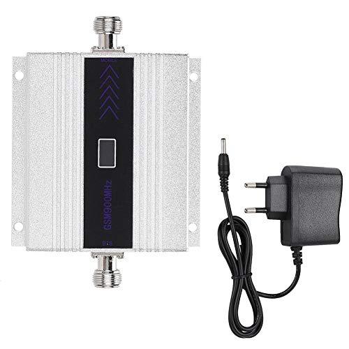 Kafuty Plata GSM900MHZ N-Female Amplificador de señal de teléfono móvil Receptor Repetidor de señal 100-240V(Enchufe de la UE)