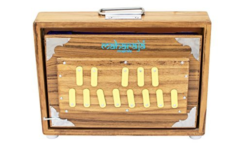 Shruti Box/ Shrutiboxen, Maharaja Musicals - Teak Wood Surpeti - 13 Drone Notes C-to-C Shruthi Indian Musical Instrument (PDI-ABC)