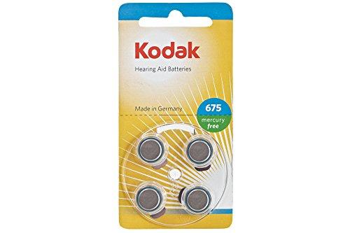 Kodak 30410435 Pack de 4 Piles pour Appareil auditif Taille P375 Argent