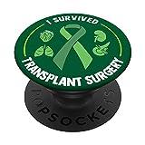 Donante de órganos - Sobreviví cirugía de trasplante PopSockets PopGrip Intercambiable