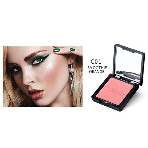Coloré(TM) 1 Couleurs Palette de Maquillage Blush Fard à Joues Poudre Cosmétique Convient Parfaitement pour une Utilisation Professionnelle ou à la Maison (A)