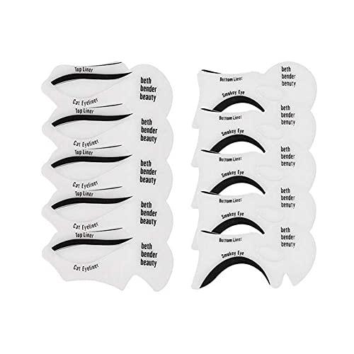 10PCS Eyeliner Schablonenkarten Set Cat Eyeliner Top Eyeliner Smokey Eyes Applikator Augen Make-up Vorlage Eyes Liner Form Modell Make-up Augenbrauen Apply Tool für Anfänger Professionelles Make-up