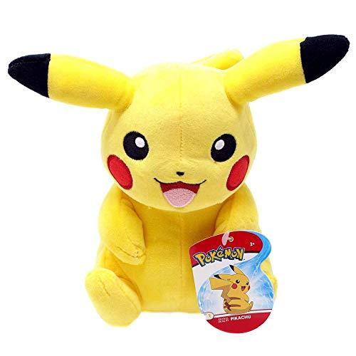 Auswahl Pokemon Plüsch-Figuren | 20 cm Plüsch-Tier | Stofftier | Kuscheltier, Plüsch:Pikachu sitzend