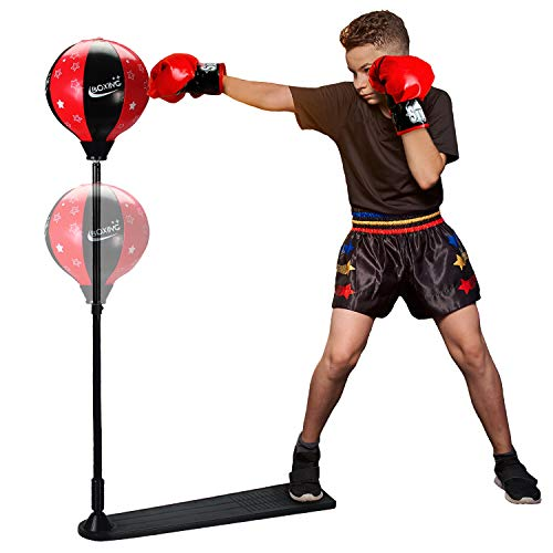 Vipergear Punching Bag for Kids | Kids Boxing Gloves and Punching Bag with Stand for Kids | Boxing Gloves Set | Kids Exercise Sports Equipment for MMA and Boxing Training Ideal for Kids