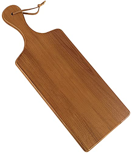 AIDEA Wood Cutting Board with Handle, Cheese Board Chartuterie Board for Kitchen, Party