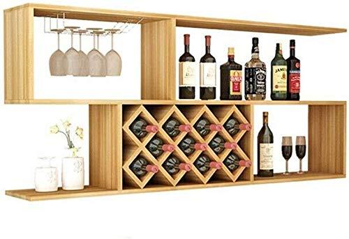 HJXSXHZ366 Estantería de Vino Restaurante Sencillo Estante del Vino Vino de la Pared Estante del Vino Colgando Estante de la Pared Pantalla Inicial minibar Estante de Vino pequeño (Size : 120)