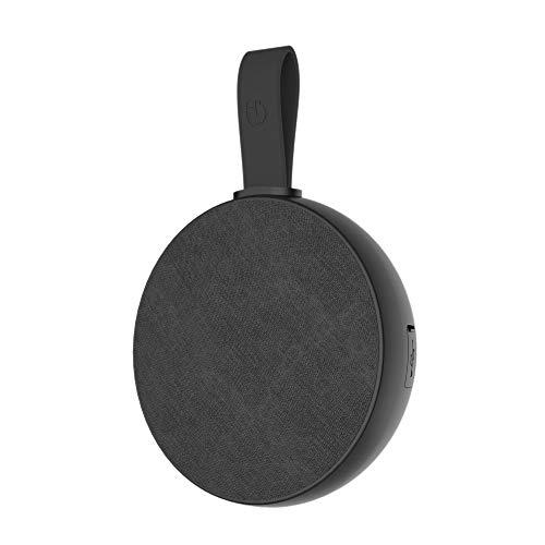 Hiditec | Mini Altavoz Portatil Negro Urban Rok S con Bluetooth | Altavoces Inalámbricos Potentes y Autoamplificables para PC, Coche o El Baño | Máxima Calidad | Resistente