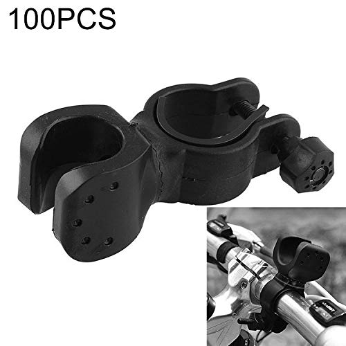 Chengcunxing Best Travel Assistant 100 PCS 360 Degrees Rotation Mount Holder Clip Clamp, for Bicycle Bike Flashlight,Dimensions: 6.5 x 3.5 x 3cm