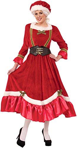 Forum Novelties Women's Plus Size Mrs. Santa Claus Costume, Multi, Plus Size