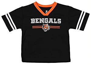 Outerstuff NFL Infant and Toddler (12M-4T) Mesh Team Color Jersey, Cincinnati Bengals 2T