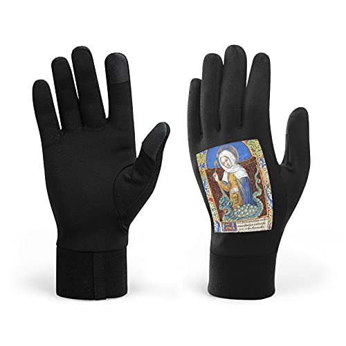 Book of Hours, Touch Screen Warm Winter Knitted Gloves Soft Thick Wool Windproof Cold Proof Thermal Mittens for Women Girls