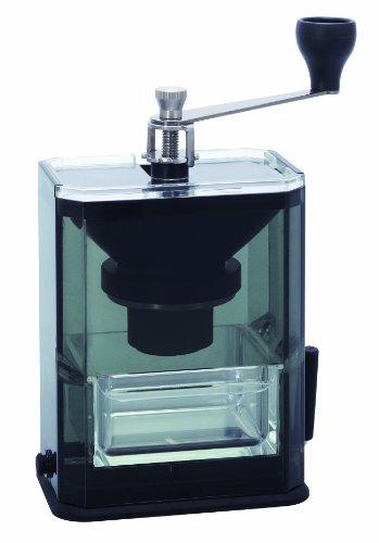 HARIO Handkaffeemühle, Glas, schwarz
