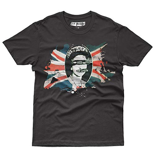 Sex Pistols God Save The Queen T-Shirt Official Licensed Uomo, Small, Nero