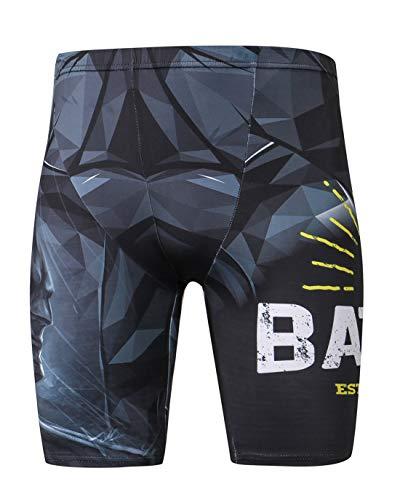 Monissy Herren Badehose Batman Sportliche Schwimmhose Kurze Hose Modern UV-Schutz Chlor resistent Schwimmshorts in Größe M-2XL