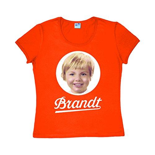 Logoshirt Frauen T-Shirt Brandt - Brandt Zwieback Logo T-Shirt - Rundhals T-Shirt orange - Lizenziertes Originaldesign