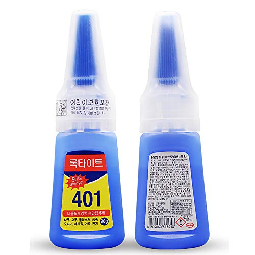 ELEpure 1Pc 401 Strong Glue That Dries Instantly, DIY Jewelry Adhesive Glue, Fully Transparent Flexible Glue for Leather Wood Metal Plastic Rubber (20g)