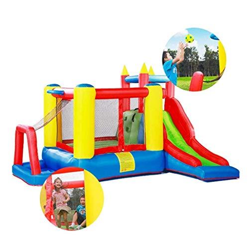 wangYUEQ Castillo Inflable para niños Inicio Trampoline Niños Juguetes Juguetes de Baloncesto Slide Juguete Plaza al Aire Libre Plaza Grande Amusement Parque Naughty Castle Toys