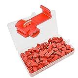 Senven® 60Pcs Scotch Lock Empalme Rápido, Conector Cable Bloqueo Scotch, Scotch Lock Quick Splice Wire Conector, Terminal de Cable Rapida Splice Conector –– Rojo