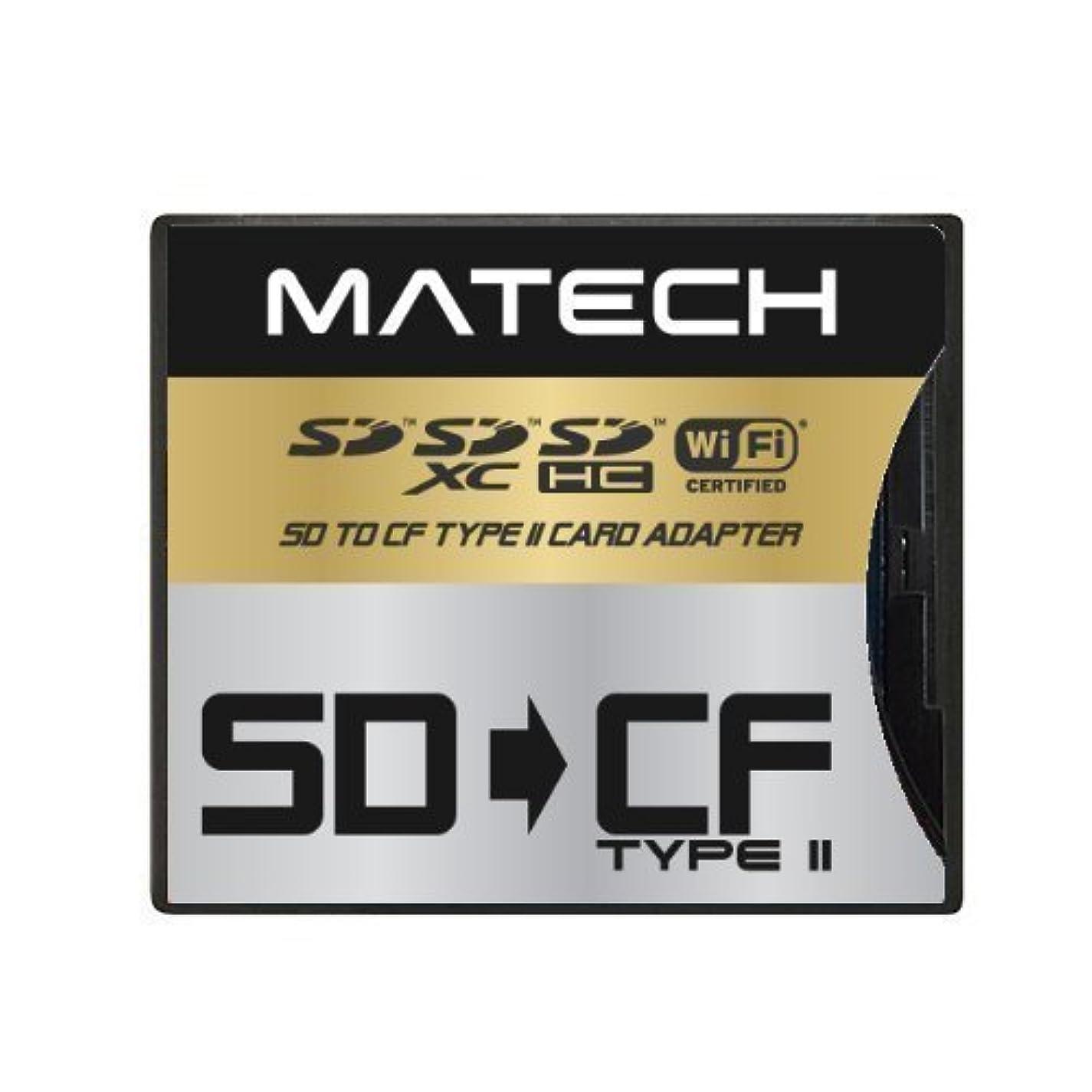 一貫性のないマスタード証明書【Amazon.co.jp限定】MATECH WiFiSD/SDXC/SDHC/SDカード から CFカード TypeII 高速 変換 アダプタ アダプター [国内正規品] (1年保証) SD2CF2AD