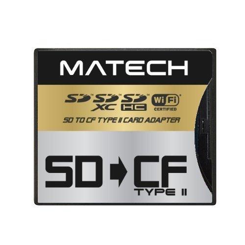 【Amazon.co.jp限定】MATECH WiFiSD/SDXC/SDHC/SDカード から CFカード TypeII 高速 変換 アダプタ アダプター [国内正規品] (1年保証) SD2CF2AD