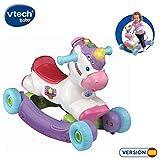 VTech- Unicornio BALANCÍN 2 EN 1, Multicolor, Talla Única (3480-192322)