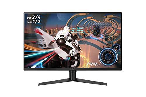 LG 32GK850F 80 cm (32 Zoll) UltraGear™ QHD Gaming Monitor (144Hz, 1ms MBR, DCI-P3 95%, HDR 400, AMD Radeon FreeSync2, DAS Mode), schwarz