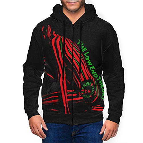 A Tribe Called Quest The Low End Theory Mens Sweatshirt Full Zipper Pullover Hoodie Hoodies Coat Top Black