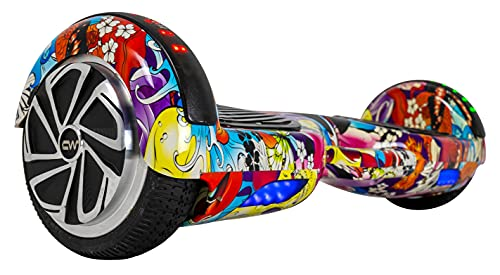 Carrywheels® Hoverboard Self Balancing 6.5 Wheel, Bluetooth, LED on Wheels for Kids & Adults Grafitti