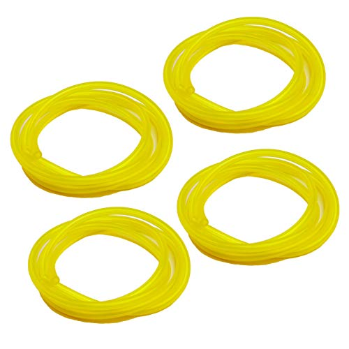 HOODELL 4 Sizes Premium Petrol Fuel Line, 4 Feet Long Hose for Poulan, Craftman, Chainsaw, String Trimmer and Blower