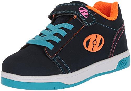 Heelys Girls' Dual UP X2 Tennis Shoe, Navy/Cyan/Neon Multi, 6 M US Little Kid