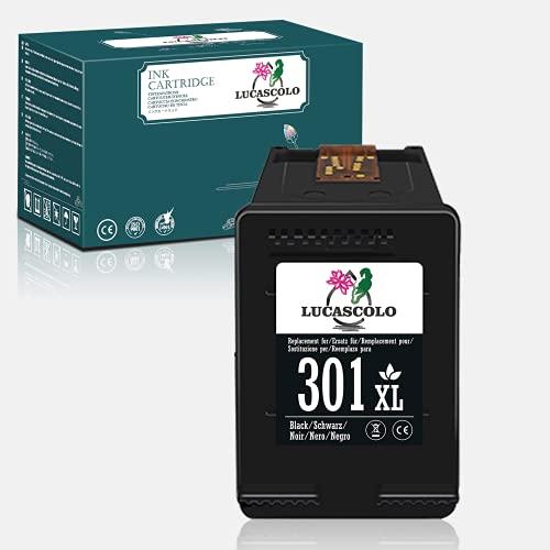 LUCASCOLO Cartucho de tinta remanufacturado para HP 301XL 301 XL Uso con HP Deskjet 1000 2050 2510 2540 3000 3050 3052A Envy 5530 4500 4507 5532 4502 5534 Oficial ejet 2620 2622 4630 4632 (1 Negro)