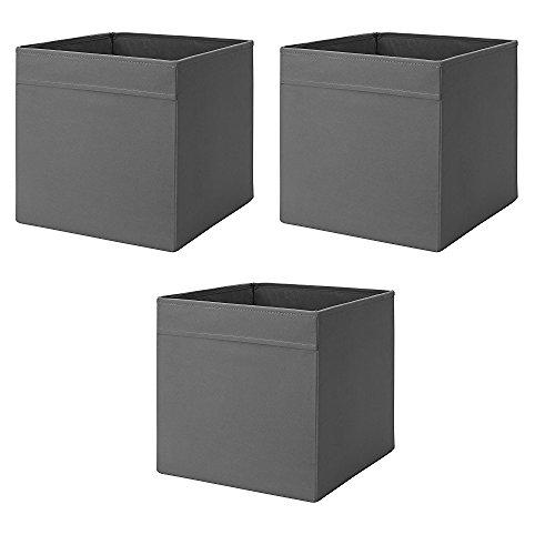 Ikea Drona Box (grigio scuro, 3 pezzi (L:38,1 cm x L33 cm x A) 33 cm)