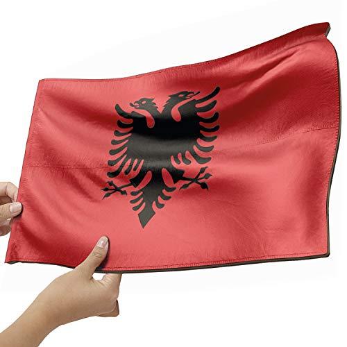 Albanien Flagge als Lampe aus Holz - schenke deine individuelle Albanien Fahne - kreativer Dekoartikel aus Echtholz