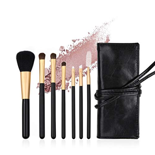 QXX-Make-up Brush Pinceau de Maquillage Set, Doux et Cruel sans Visage synthétique Ombre à paupières Brosse 7pcs