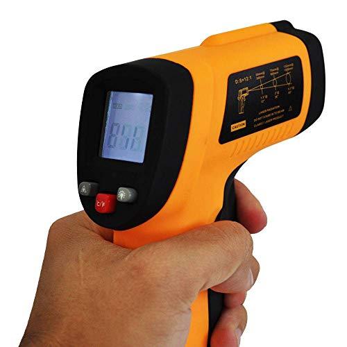 Termômetro Digital Infravermelho com Mira a Laser para Comida Fritura Assados
