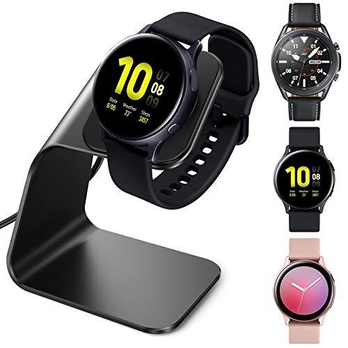 CAVN Caricabatterie Compatibile con Samsung Galaxy Watch Active 2 / Galaxy Watch Active/Galaxy Watch 3 Caricabatterie, Caricatore Sostitutivo Caricatore Dock Base di Ricarica per Galaxy Watch 3